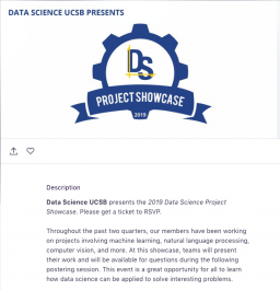 Data Science at UCSB 2019 Showcase
