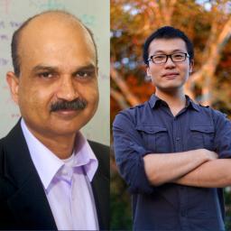 Photo Ambuj Singh and Yu-Xiang Wang