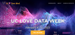 UC Love Data Week splash page